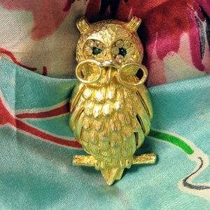 Vintage Wise Old Owl Pin